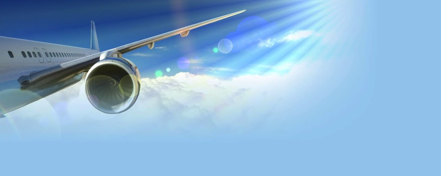 flight-airplane-cloud-and-sun-ray-backgrounds-wallpapers